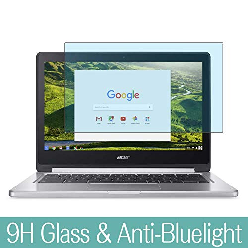 Synvy Anti Blue Light Tempered Glass Screen Protector Compatible with Google Chromebook R13 Acer 13.3 inch Visible Area 9H Protective Screen Film Protectors (Not Full Coverage)