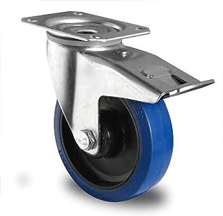 HRB Blue Wheel zwenkwiel met rem 200 mm, draagkracht 350 kg (200 mm zwenkwiel met rem)