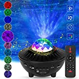 Night Light Projector, HoMove Star Projector LED Nebula Cloud Ocean Wave Projector with Bluetooth Music Speaker for Baby Bedroom, Game Rooms, Home Party, Night Light Ambiance