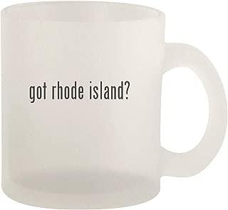 got rhode island? - Glass 10oz Frosted Coffee Mug