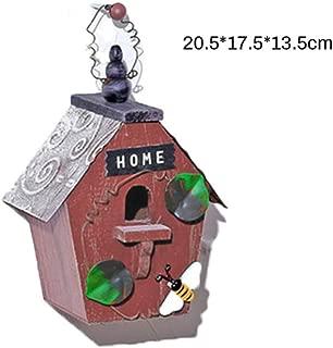 BOOB Pet Bird Cage Parrot House Bird Nesting for Small Pet Parakeets Sparrows Wooden Ventilation Birds Nest House Bird House