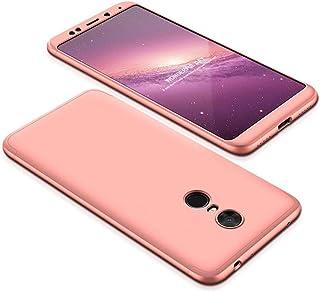 Xiaomi Redmi 5 Plus Case, fashion ultra Slim Gkk 360 Full Protection Cover Case - Rose Gold