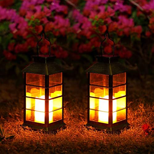 Lampada Solare Giardino Esterno,OxyLED 2 pcs LED Luci Solari Giardino,Cambia Colore Lampade da...