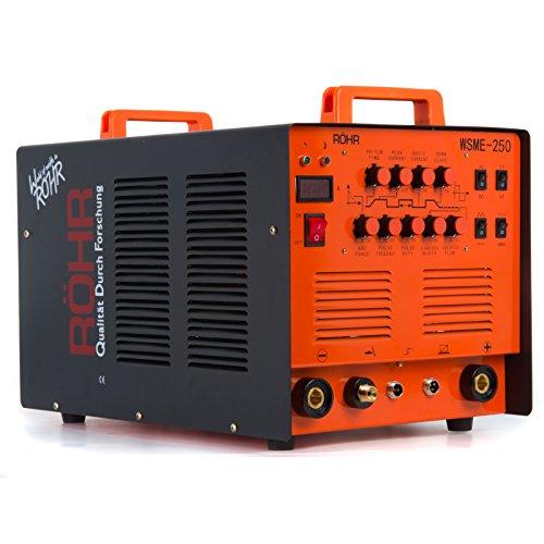 Röhr WSME-250 Inverter-Schweißgerät 4-in-1 für WIG/MMA-Schweißen mit/ohne Gas AC/DC 240V 250A