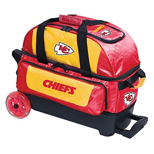 KR Kansas City Chiefs Bowlingtasche mit Doppelroller, Rot/Gelb