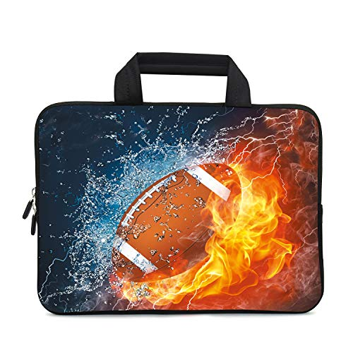 XMBFZ 11.6 12 12.1 Inch Laptop Carrying Bag Protective Chromebook Case Pouch Netbook Notebook Ultrabook Bag Tablet Sleeve Cover Travel Briefcase with Handle for Men Women (Football)