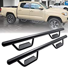 Running Boards Side Step Nerf Bars Hoop Bar for 2005-2021 Toyota Tacoma Double Cab/Crew Cab with 4 Full Size Door (Driver and Passenger Side),Drop Step Style,Matte Black,3 Inches,Round Tube