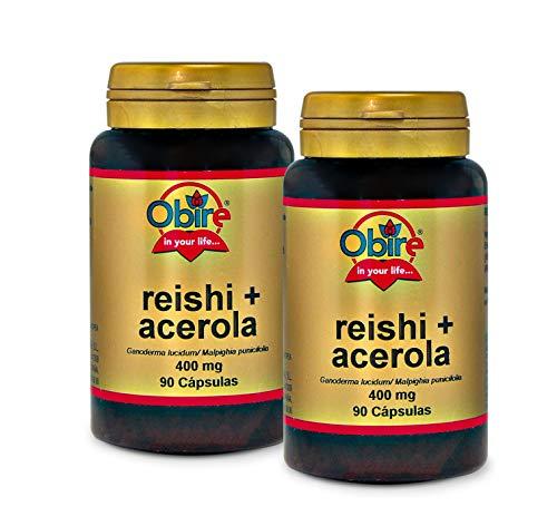 Obire | Reishi y acerola 400 mg | 90 Cápsulas (Pack 2 unid.)