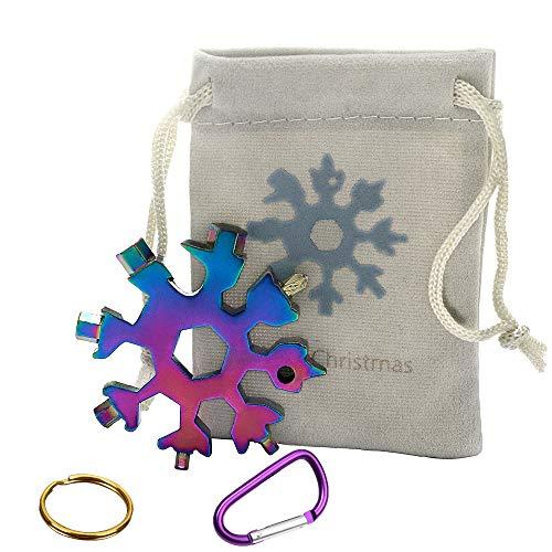 18-in-1 Snowflake Multi-Tool Screwdriver, Stainless Steel 18-1 Multitool Snow Tool,Best Christmas...