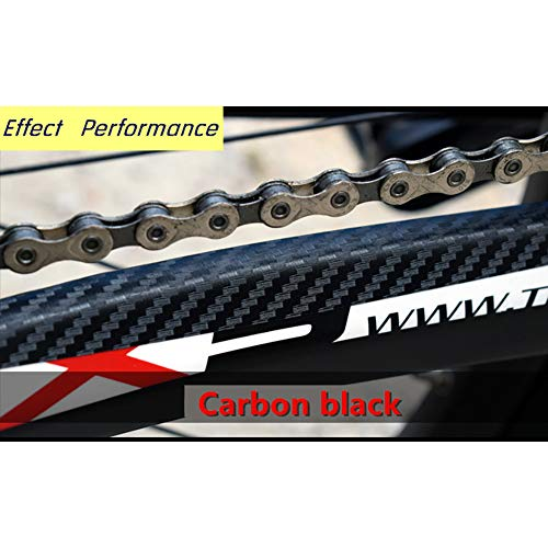 Xiton 1Sheet Bicycle Chainstay Stickers Chainstay Frame Protector scratch resistant sticker Bike Protective Tape Guard for Road Bike(Carbon Black)