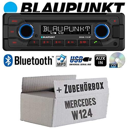 Autoradio Radio Blaupunkt Doha - Bluetooth CD MP3 USB - Einbauzubehör - Einbauset für Mercedes W124 - JUST SOUND best choice for caraudio