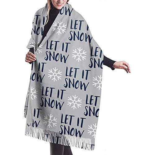 Cathycathy laat het snijden van marine op grijze kerstwintervakanties-sjaal-verpakking, warme sjaal-kap, grote zachte sjaalverpakking.
