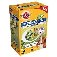 Pedigree Dentastix FRESH Dog Treats Medium Dog 10-25kg (4 x 28Pcks =112 Sticks)
