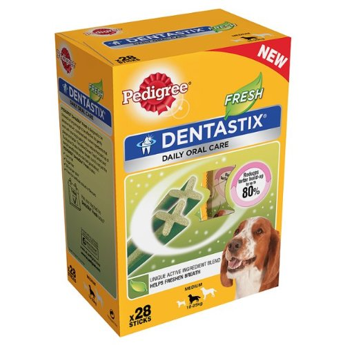 Pedigree Dentastix Hundesnacks, für frischen Atem, für mittelgroße Hunde mit 10-25kg, 112 Stück