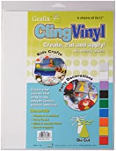 """Grafix Clear, 9 x 12"""" Sheets, Pack of 6, Static Film, Create Your Own Window Clings and Temporary Decorations, Just Stick ..."""