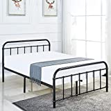 LANKOU <span class='highlight'>Bed</span> <span class='highlight'>Frame</span>, <span class='highlight'>Metal</span> Platform Mattress Foundation/Box Spring Replacement with Headboard Victorian <span class='highlight'>Style</span> .UPS Delivery,Three Years Warranty King Size (5FT)