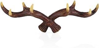 Gancho de pared de ciervo, cabeza de querido decorativo rústico para abrigos montado en la pared de resina en forma de animal sombrero ropa ropa ropa chaqueta perchero