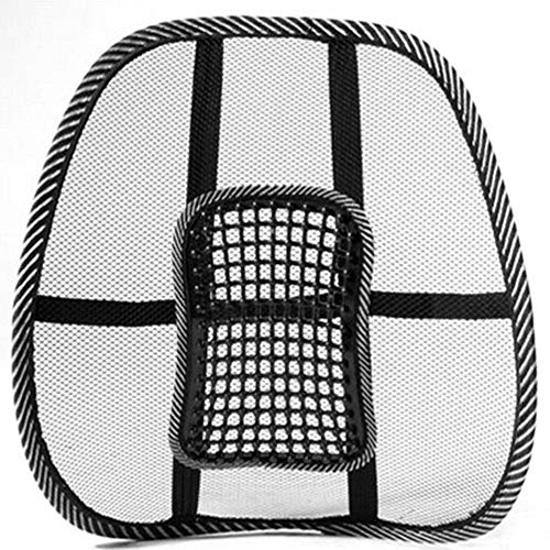 zhibeisai Mesh Back Lumbar Support Massage Beads for Car Seat Chair Massage Cushion