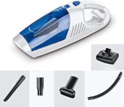 Mini Car Vacuum Cleaner, Wireless 120W Handheld Portable USB Charging Vacuum Cleaner High Powerful Wet Dry Dual-Use for Be...