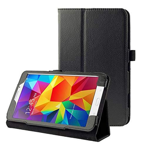 JIANGHONGYAN Funda de Cuero con Tapa de Textura de Litchi con Soporte for Samsung Galaxy Tab 4 8.0 / T330 (Color : Black)