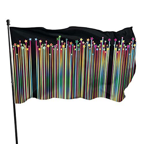 Bokueay Meteor Across The Night Sky Bandera decorativa para jardín, 3 x 5 pulgadas