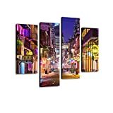 Size: 12''x24''x2pcs+12''x32''x2pcs (Total size of 4 pieces if placed together without spaces is 48''x32'') High Definition modern art work, picture photo printing on high quality canvas.Vivid Colors of Arts Would Brighten Your Walls. Stretched and F...