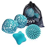 Massage Balls Set, Spiky, Peanut Muscle Ball Roller, Hand Excercise Ball, Ideal for Self Myofascial Trigger Point Release, Acupressure, Plantar Fasciitis, Reflexology for Physio, Back, Legs and Feet