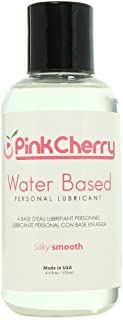 PinkCherry Water Based Lubricant in 4.5oz/135ml - Unscented Unflavored Lubricant and Vaginal Moisturizer