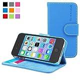 Funda iPhone 4 / 4s, Snugg™ - Carcasa Azul De Cuero (PU) con Tapa Y Una Garantía De por Vida para Apple iPhone 4 y iPhone 4s