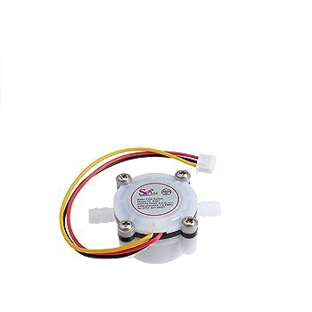 UKCOCO Sensor de Flujo de Agua, Fluid Control 0.3-6L/min DC 5V-24V ...