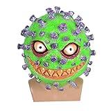 NUOBESTY Sombreros de Fiesta de Látex Tocado de Miedo Broma Prop Tocado Coronal Novedad Fiesta de Disfraces para Baile de Fiesta Cosplay Vestimenta de Escenario (Verde Púrpura)