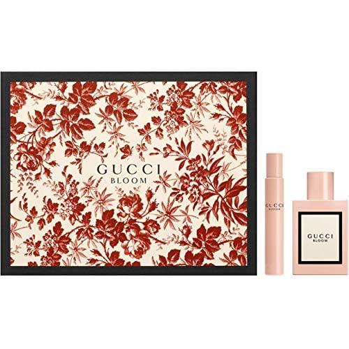 Gucci Bloom, Eau de parfum spray e con applicatore a sfera - Set regalo per lei, 50 ml e 7,4 ml