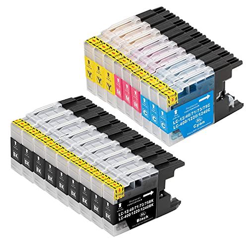 B-T Kompatibel Tintenpatronen Ersatz für Brother LC1240 LC1280 XL Druckerpatronen für Brother MFC J5910DW J625DW J430W J6510DW J6710DW J825DW MFC-J5910DW Patronen (18 Pack)