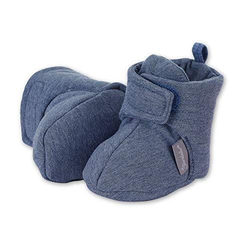 Sterntaler Baby Jungen Schuh Stiefel, Blau (Jeans Mel. 5101600), 18 EU