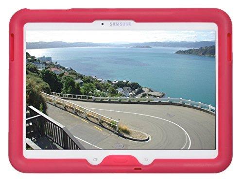 Bobj Silikon-Hulle Heavy Duty Tasche fur Samsung Galaxy Tab 4 10.1 und Tab 3 10.1 Tablet, WiFi (SM-T530), 3G (SM-T531), 4G (SM-T535), und andere modelle SM-T53..., und GT-P5200, GT-P5210, GT-P5220 - BobjGear Schutzhulle - (Himbeere)