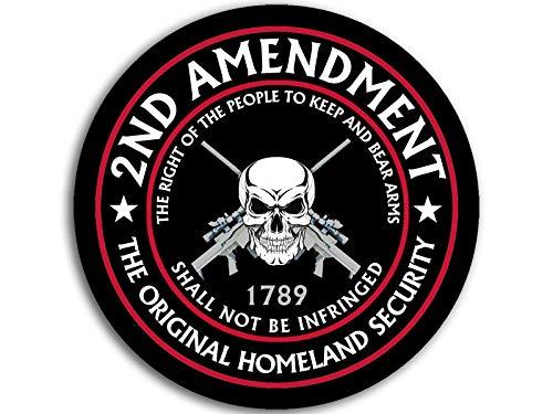 American Vinyl Round 2nd Amendment The Original Homeland Security Sticker (Right Bear arms Gun NRA)