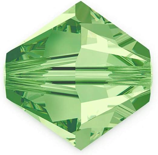 50pcs Authentic 6mm Swarovski Crystals 5328 Xilion Bicone Crystal Beads for Jewelry Craft Making (Peridot) SWA-b616