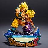 AUUUA Estatua de Anime Dragon Super Saiyan Son Goku y Gohan Padre e Hijo Shockwave PVC Figura...