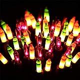 ⭐️Halloween String Lights - 24ft 100 Incandescent Orange&Purple&Green Mini Bulbs Lights, Halloween Lighting Decor for Outdoor&Indoor Use, Fairy Garden, Yard, Home, Party, Holiday, Halloween Decoration
