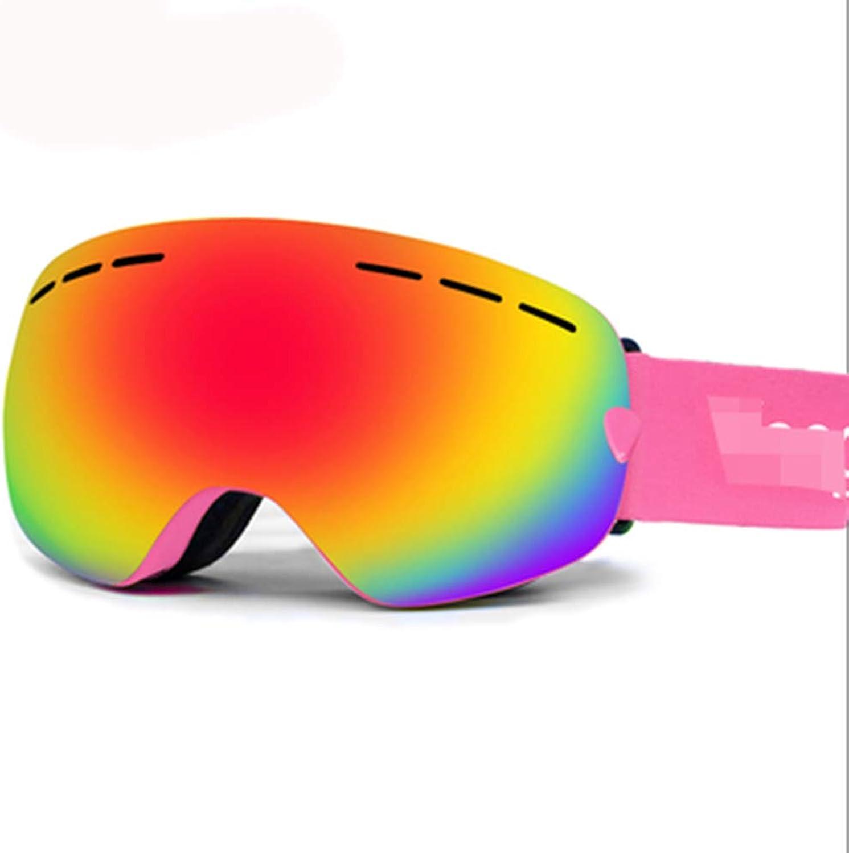 HuanXin-M531 Skibrille für Mnner und Frauen Teen Skibrille UV400-Schutz und Anti-Fog für Skating-Ski-Schneemobile