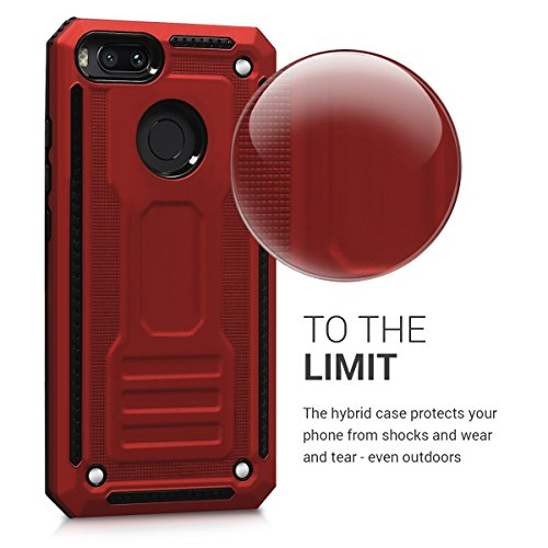 kwmobile Full Armor Case Compatible with Xiaomi Mi 5X / Mi A1 - Heavy Duty Shockproof Protective Hybrid Case Cover…
