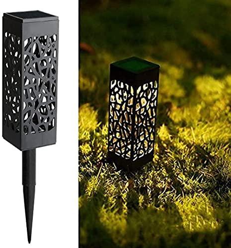 8 piezas de luces LED de jardín con energía solar Luces de camino solares Iluminación de paisaje decorativa de Navidad de Halloween automática para exteriores para patio y...