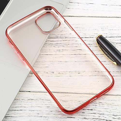 Xyamzhnn For iPhone 11 Pro MAX Transparente TPU Anti-Gota y la Caja Protectora Impermeable del teléfono móvil (Color : Silver)