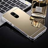 DACHENGJIN Estuche for la contraportada Protectora de For xiaomi Redmi Note 4 y Redmi 4X Acrylic + TPU Electroplating Mirror (Dorado) (Color : Gold)