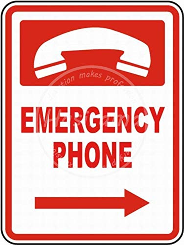 Snowae Cartel Metal teléfono Emergencia, Aluminio