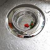 3 Piezas Filtro de Acero Inoxidable para Fregadero,(7cm/9cm/11cm)Filtro De Desagüe Del Fregadero De La Cocina, Filtro De Acero Inoxidable Para Fregadero Lavabo Bañera, Apto para Cocinas, Baños