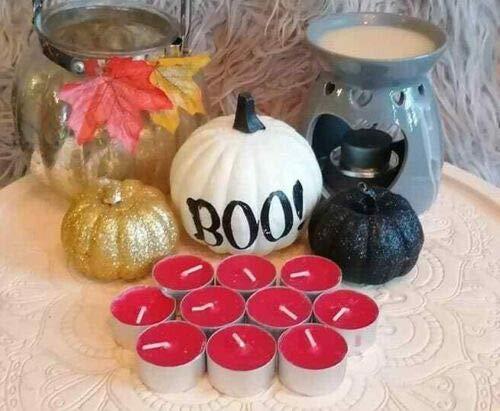 Pick2Basket 10 Tea Lights 8 Hour Long Burn Night Light Candles Red Berry Tealights