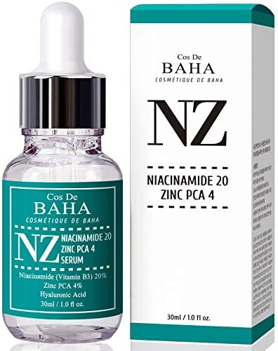 Niacinamide 20 Zinc 4 Serum for Face Pore Reducer Uneven Skin Tone Treatment Diminishes Acne product image