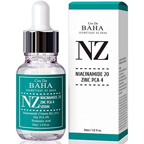 Niacinamide 20% + Zinc 4% Serum for Face - Pore Reducer + Uneven Skin Tone Treatment + Diminishes Acne Prone, Korean Skin Care, 1fl oz (30ml)