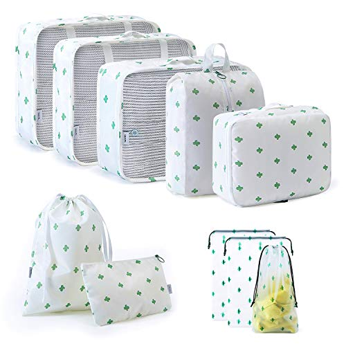 FADISH Packing Cubes,10 Pcs Suitcase Organiser Bags ,High Quality Durable Packing Organizers for Luggage